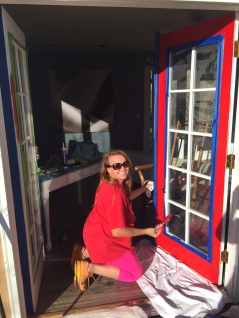 Red trim on French doors is tough!